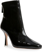 Thumbnail for your product : Black Suede Studio Laura Leather Stiletto Zip Booties