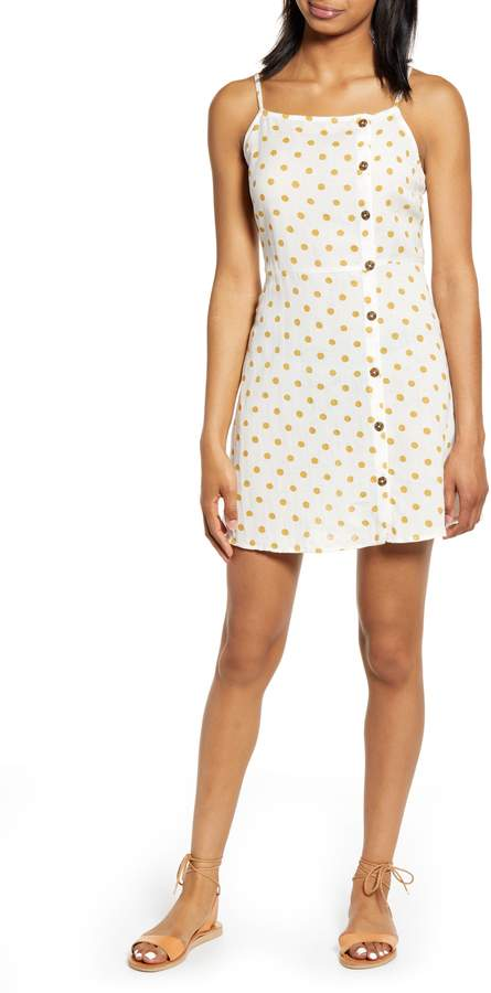 Billabong Fine Nights Buttoned Minidress