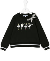 Simonetta sweatshirt with ballerina print and bow