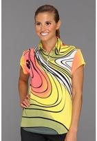 Ecco Jamie Sadock Print Short Sleeve Top (Citronelle) - Apparel