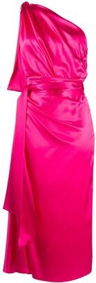 Dolce & Gabbana One-Shoulder Silk Dress