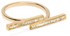 Maiyet 18K Yellow Gold & 0.33 Total Ct. Baguette Diamond Stepped Ring