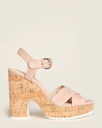 Kate Spade Dusty Blush Glynda Cork Platform Sandals