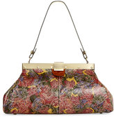 Patricia Nash Metallic Paisley Tooled Ferrara Satchel