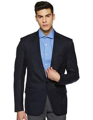 Shaftesbury London Men's 1 Button Slim Fit Blazer L Black