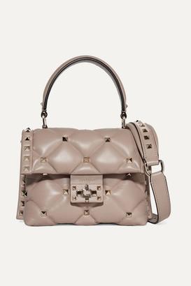 Valentino Garavani Candystud Mini Quilted Leather Shoulder Bag - Blush