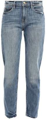 Frame Beckham Distressed High-rise Boyfriend Jeans