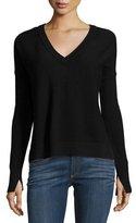 Rag & Bone Taylor Merino Wool V-Neck Sweater, Black