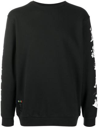 adidas cartoon print long-sleeved T-shirt