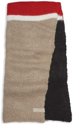 Calvin Klein Colourblock Boucle Knit Scarf