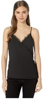 1 STATE 1.State 1.STATE Spaghetti Strap Wrap Front Cami with Lace (Rich Black) Women's Blouse