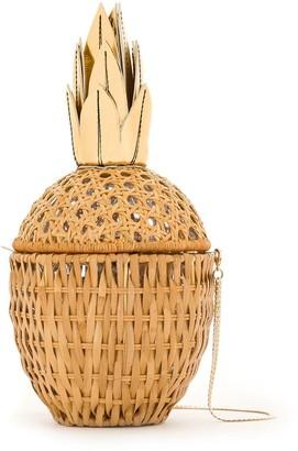 Serpui Marie Abacaxi straw clutch