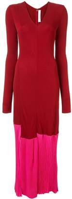 Victoria Beckham long sleeve colour block dress