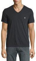 True Religion V-Neck Short-Sleeve Logo Tee, Black