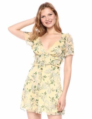 Keepsake Women's Luscious Short Sleeve Ruffle Trim Mini Dress