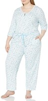 Thumbnail for your product : Karen Neuburger Women's Pajamas 3/4 Sleeve Pullover Henley Pj Set