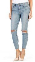 Paige Women's Hoxton High Waist Raw Edge Crop Jeans