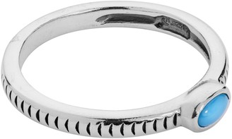 American West Sterling Gemstone Stackable BandRing
