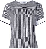 Carven striped high neck blouse