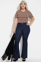 Forever 21 FOREVER 21+ Plus Size Flared Jeans (Regular)