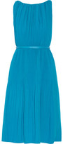 Raoul Picadilly Pleated Stretch-Crepe Dress