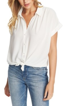 1 STATE Tie-Hem Short-Sleeve Top