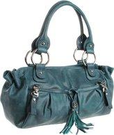 B. Makowsky Yvette Shoulder Bag,Leaf,One Size