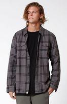Vans Wayland Black Plaid Flannel Long Sleeve Button Up Shirt