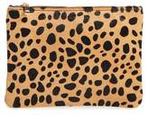 BP Leopard Print Genuine Calf Hair Pouch
