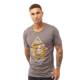 Von Dutch Mens V-Apache Graphic T-Shirt Gunmetal