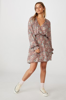 Cotton On Woven Kasey Long Sleeve Smock Dress