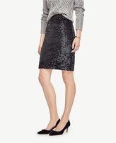 Ann Taylor Petite Sequin Pencil Skirt