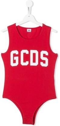 Gcds Kids TEEN sleeveless logo bodysuit1