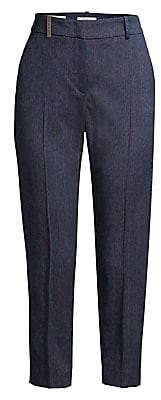 Peserico Women's Pinstripe Cropped Pants