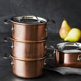 Williams-Sonoma Williams Sonoma Mini Copper Cocottes, Set of 4