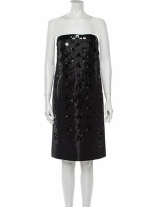 Maison Margiela Strapless Mini Dress Black