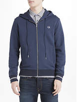 Fred Perry Loopback Hooded Jumper, Blue