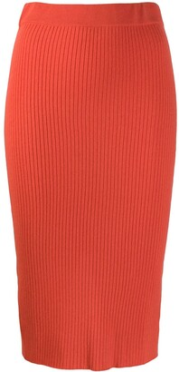 Cashmere In Love Ribbed Knitted Skirt