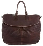 Brunello Cucinelli Large Grained Leather Satchel