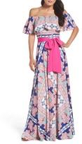 Eliza J Off the Shoulder Maxi Dress (Regular & Petite)