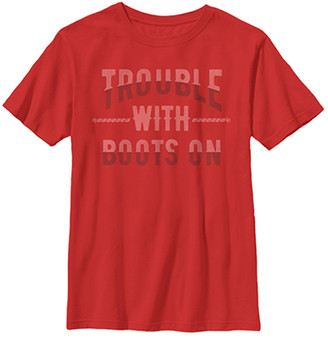 Fifth Sun Boys' Tee Shirts RED - Red 'Trouble With Boots On' Tee - Boys