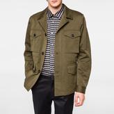 Paul Smith Men's Khaki Cotton and Linen-Blend Field Jacket