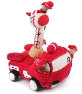 I Golfini Della Nonna Fire Engine with Finger Puppets