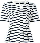 Alexander Wang striped peplum top - women - Cotton - XS