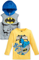 Nannette Little Boys' 2-Pc. Hooded Vest & T-Shirt Set