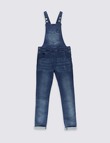 Marks and Spencer Cotton Denim Dungarees with Stretch (3-14 Years)