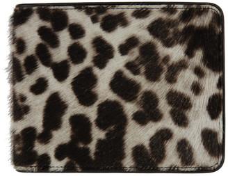 Dries Van Noten Off-White and Brown Animal Bifold Wallet