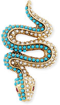 Kenneth Jay Lane Studded Snake Pin