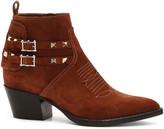 Valentino Rockstud Booties in Selleria | FWRD