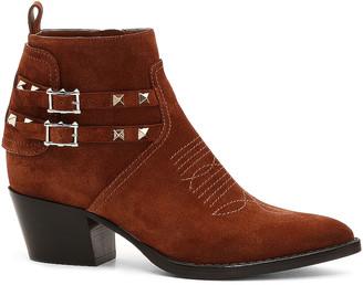 Valentino Rockstud Booties in Selleria   FWRD